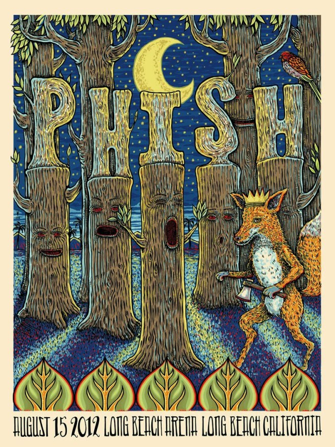 phish long beach poster michale motorcycle